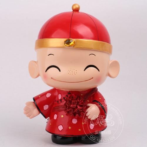 中国娃娃婚庆公仔新婚礼物树脂娃娃情侣公仔天长地久