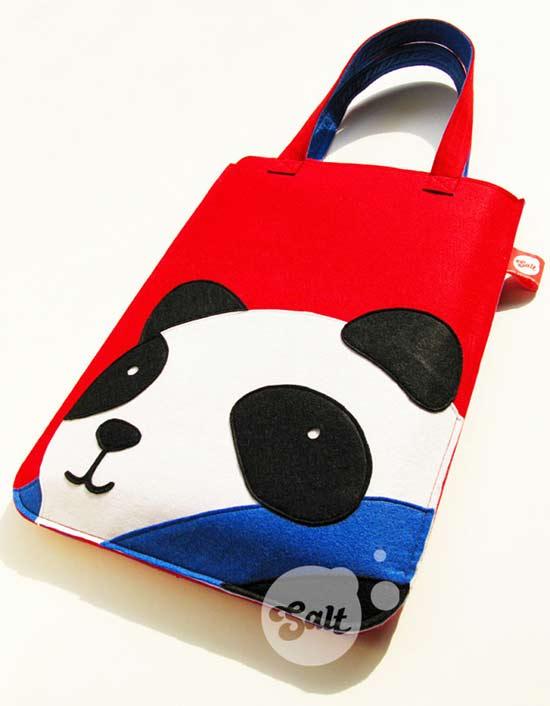 羊毛毡电脑包*熊猫 panda