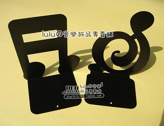 出口日本 铁质高音谱号 十六分音符造型 书挡 书立 2款可选
