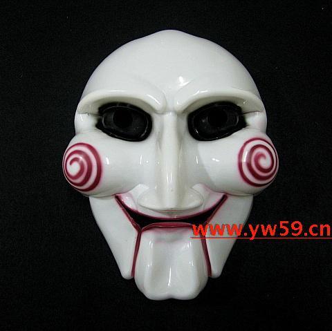 万圣节面具/saw电锯惊魂主题面具/电锯杀手面具