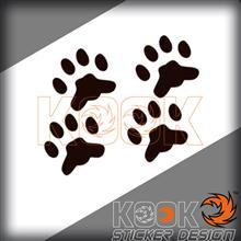 小猫脚印的简笔画图片