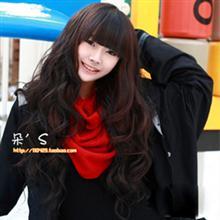 淘金币 高温丝假发 长卷 蓬松 齐刘海超长大波浪逼真头发发型图片